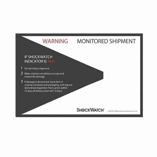 Transit Monitored Shipment Warning
