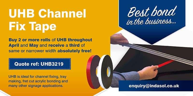UHB Channel Fix tape