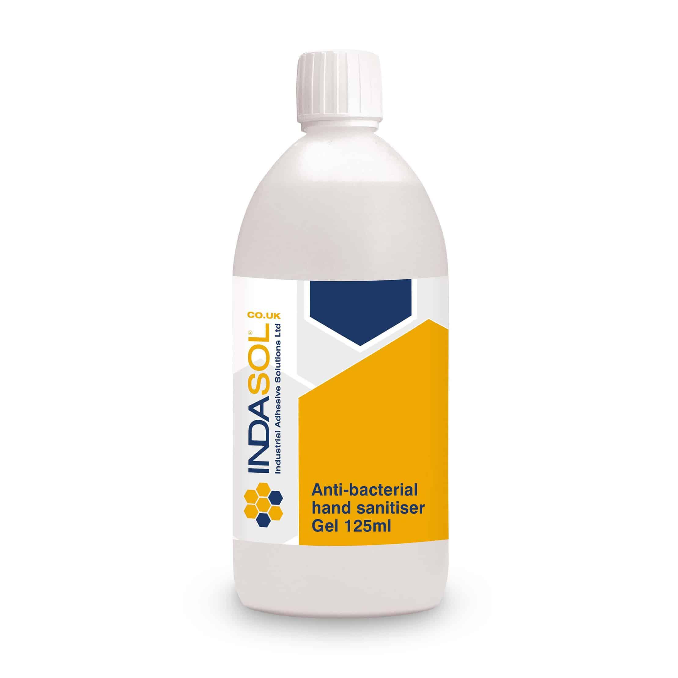 Indasol 125ml Antibacterial Hand Sanitiser Gel